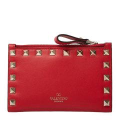 Valentino/华伦天奴 19秋冬 女士小牛皮铆钉装饰时尚钱包钱夹图片