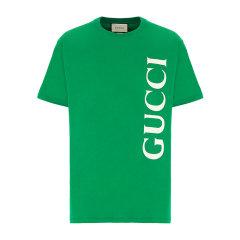 GUCCI/古驰 20年春夏 Gucci印花超大造型T恤 男性 绿色 男士短袖T恤 565806_XJB2V_3189图片