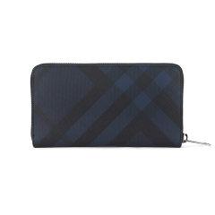BURBERRY/博柏利  钱包20春夏新款  男士深蓝色格纹商务休闲长款PVC拉链手拿包钱包 8006050图片