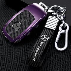 pinganzhe  汽车新款炭纤维软胶个性钥匙包  适用于奔驰E级专用钥匙壳 钥匙保护套  钥匙扣图片