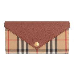 BURBERRY/博柏利  钱包20春夏新款Vintage 女士典藏米色格纹棉质配皮革长款翻盖按扣手拿包背包8026111图片