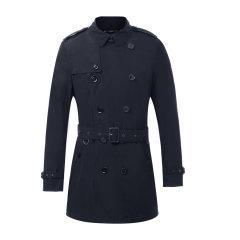 BURBERRY/博柏利 翻领双排扣附腰带男士风衣 男装 男士外套 必备风衣 38011501图片