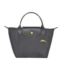 Longchamp/珑骧 LE PLIAGE系列 女士经典蓝色尼龙logo小号短柄可折叠手提包肩背包挎包饺子包通勤包女包 1621619564图片