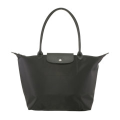 Longchamp/珑骧  女士帆布中号长柄饺子包单肩手提包  MS08-L1899578745图片