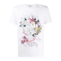 Alexander McQueen/亚历山大麦昆  20春夏 男装 服装 男士棉质植物标识印花经典LOGO款圆领 男士短袖T恤图片