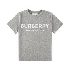 20春夏新款 BURBERRY/博柏利男女童棉质徽标印花T恤图片