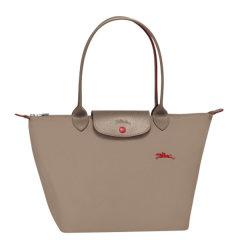 Longchamp/珑骧 女士中年,孕妇LE PLIAGE系列织物尼龙长柄可折叠手提单肩包 2605刺绣图片