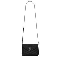 【包税】YSL/圣罗兰 LOULOU Y型绗缝小牛皮银扣链条单肩包(5色可选)图片
