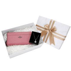 【新年礼盒】COACH/蔻驰新款青年女士皮质长款钱包,清新优雅项链组合女士礼盒装送女友送妈妈图片