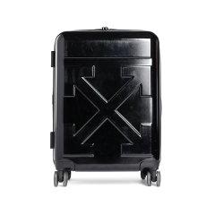 OFF-WHITE/OFF-WHITE 美国潮牌 新款中型黑色亮面滚轮旅游行李箱 OMNG005 R20F61023 1010图片