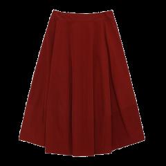 BLUE ERDOS/BLUE ERDOS 秋冬高腰A字伞裙双层显瘦拉链女士半身裙图片