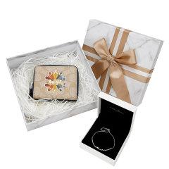 【新年礼盒】COACH/蔻驰新款青年女士皮质短款钱包手潘多拉冰川手链组合女士礼盒装送女友送妈妈图片