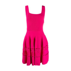 Alexander McQueen/亚历山大麦昆 20年春夏 服装 百搭 女性 粉色 女士连衣裙 610723#Q1AL7#5033图片