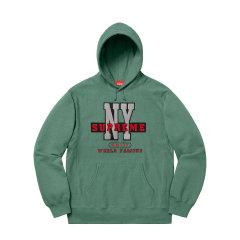 Supreme 19FW NY Hooded Sweatshirt 纽约植绒 LOGO 帽衫卫衣图片