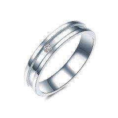 ZOCAI/佐卡伊 守护 白18K金钻石戒指情侣对戒男戒女戒婚戒 定制图片