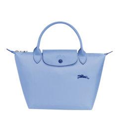 Longchamp/珑骧70周年纪念款 女士孕妇,情侣LE PLIAGE系列织物尼龙短柄可折叠手提包1621刺绣图片