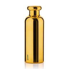 意大利进口不锈钢金色保温杯时尚款  利快guzzini奢华定制款双层真空运动水壶  男女水杯 500ml图片