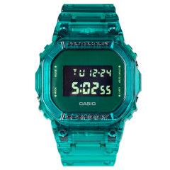 CASIO卡西欧G-SHOCK果冻透明绿蓝红色DW-5600SB-2/3/4方块运动防水手表图片