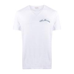 Alexander McQueen/亚历山大麦昆 20年春夏 服装 男性 男士短袖T恤 609584 QOZB3 0900图片