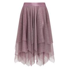 GEGINA/GEGINA 19秋冬 紫色高腰A字不规则蓬蓬蛋糕纱裙女士半身裙图片