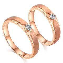 Daisy Fellowes/黛西法罗  婚戒系列 18K金钻石情侣戒 男女对戒图片