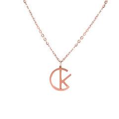 CalvinKlein/卡尔文·克莱因 誓约系列ck大logo锁骨项链毛衣链男女情侣项链 生日礼物 情人节礼物图片