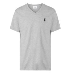 BURBERRY/博柏利 20SS Monogram系列男士纯色绣标LOGO标识棉质短袖T恤  8017258 【一周左右到港发货】图片