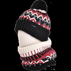 卡蒙帽子女秋冬毛线帽子围巾两件套女日系可爱加绒围脖骑行针织帽图片