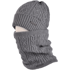 卡蒙男士帽子围巾两件套加绒加厚保暖围脖套头针织帽秋冬户外骑行图片