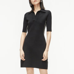 MO&Co./摩安珂女士连衣裙2020春季新品撞色Polo领连衣裙MBO1DRS018图片