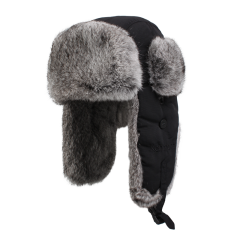 滑雪帽男皮草帽男士帽子户外冬季加厚帽女大码兔毛雷锋帽男潮棉帽图片