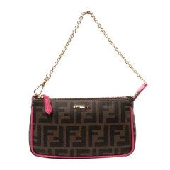 【包邮包税】Fendi 芬迪 20春夏 女士棕色FF图案经典手拎包链条单肩包手提包图片