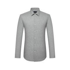 TOMBOLINI/东博利尼20年春夏新品男士长袖衬衫纯棉麻灰色反面波点长袖衬衫XBC51016UDRB图片