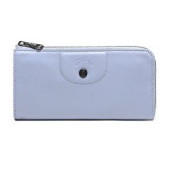 【国内现货】Longchamp/珑骧  女士LE PLIAGE CUIR系列羊皮长款钱包钱夹礼盒款 3418 757图片