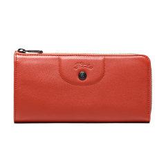 【国内现货】Longchamp/珑骧 女士钱包 LEPLIAGECUIR系列羊皮长款钱夹 3418 757图片