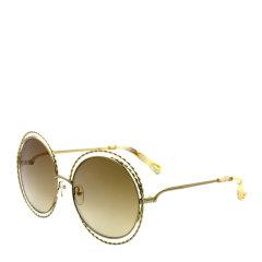 CHLOE/克洛伊 蔻依 圆形 大框 麻花 合金镜框 女士太阳镜 渐变色镜片 墨镜 眼镜 CE114ST 58mm CHLOE 克洛伊图片