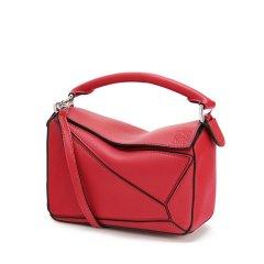 【包税】LOEWE/罗意威 经典款Puzzle女士迷你小牛皮荔枝纹手拿手提包 (4色可选)图片