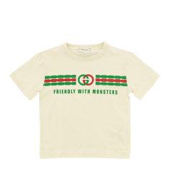 GUCCI/古驰 20年春夏 服装 男童 蓝色 儿童T恤 575114 XJB5B 4722图片
