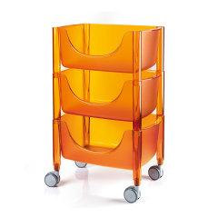 意大利进口果蔬收纳推车   落地厨房置物架   利快guzzini多功能收纳架(碗碟调料杂物收纳)(送15升收纳筐)图片