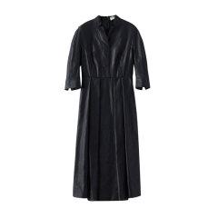 EXCEPTION/例外 20年春夏新款收腰裙摆设计面料烧花精致典雅连衣裙女-女士连衣裙图片