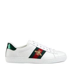 GUCCI/古驰 2020新款小白鞋 蜜蜂双色印花牛皮系列 男士休闲运动鞋  429446 A38G0图片
