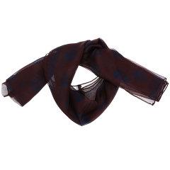 AlexanderMcQueen/亚历山大麦昆男士绿色底黑色骷髅图案蚕丝丝巾围巾4213844010Q图片
