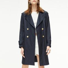 MO&Co./摩安珂女士风衣2020春季新品翻领收腰纯色风衣外套MBO1TRC001图片