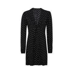 【20春夏新款】Pinko/品高V领波点设计复古时尚女士连衣裙图片
