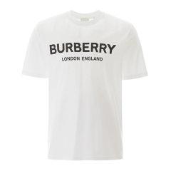 【包邮包税】BURBERRY/博柏利 20春夏 李现同款 男装服饰棉质圆领字母印花半袖上衣男士短袖T恤80260图片