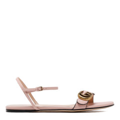 GUCCI/古驰 20年春夏 女士凉鞋 女性 一字带 logo 粉色 平跟凉鞋 524631 A3N00 9022图片