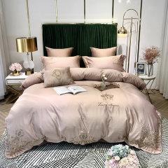 MY SIDE 2020春夏新品精美刺绣工艺四件套 床单被套4件套床上用品-罗马假日图片