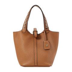 Emini House/伊米妮2020新款时尚牛皮高级感包包小众品牌轻奢撞色编织手提包图片