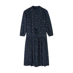 GANT/甘特 2020早春新品 女士连衣裙 碎花九分袖系带衬衫连衣裙4503077图片