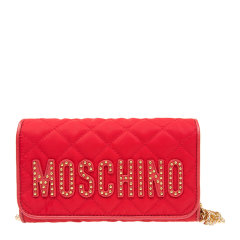 MOSCHINO/莫斯奇诺 女士尼龙时尚字母印花翻盖钱包单肩包斜挎包链条包女包 B8102-8203多色可选图片